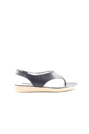 Jil Sander Sandalo toe-post nero-crema stile casual