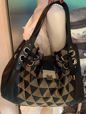 Jimmy Choo Carry Bag gold-colored-black leather