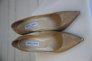 Jimmy Choo Abel Glitter 100mm Gr. 40 gold