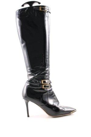 Jimmy Choo Absatz Stiefel schwarz Elegant