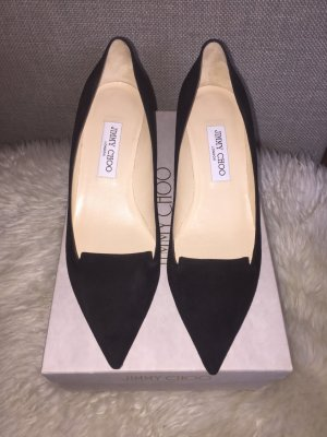 Jimmy Choo Allure Pumps in schwarzem Veloursleder Gr. 39.5