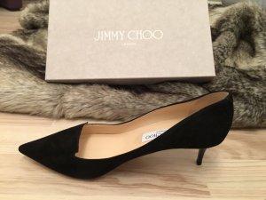 JIMMY CHOO ALLURE SUEDE - BLACK GRÖSSE 39 NEU