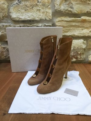 Jimmy Choo Bottine ajourée brun sable-doré
