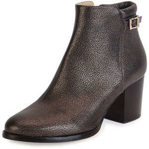 Jimmy Choo Bottines gris anthracite-noir cuir