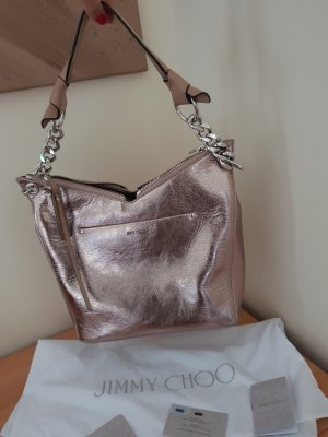 Jimmy Choo Bag Crincle Leder Nude/Rose Neu