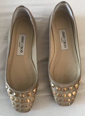 Jimmy Choo Ballerinas Gold mit metallic 36