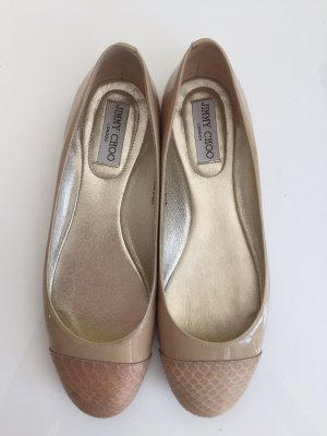 Jimmy Choo Ballerinas in Nude