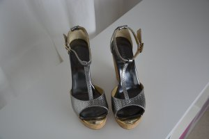 Jimmy Choo Platform High-Heeled Sandal grey-silver-colored