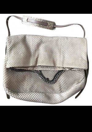 Jimmy Choo Hobos natural white reptile leather