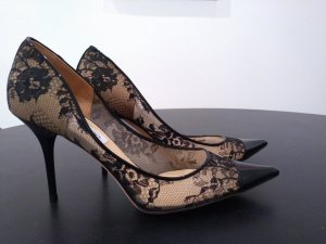 Jimmy Choo Black Nude Lace Mesh