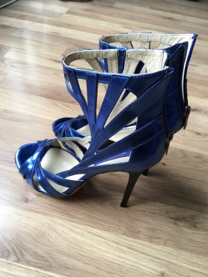 Jimmy Choo Blau metallic H&M Collection
