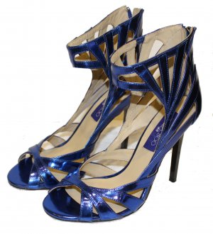 JIMMY CHOO by H&M PUMPS High Heel blau LACK Gr. 38
