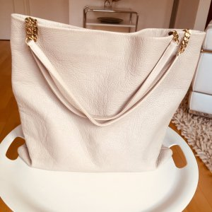 Jimmy Choo Charlie Shopper Tote Bag Winter White Large Handbag