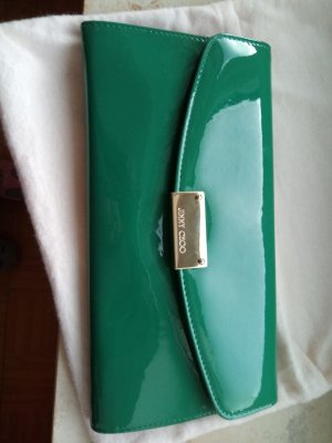 Jimmy Choo Clutch- Lackleder Grün