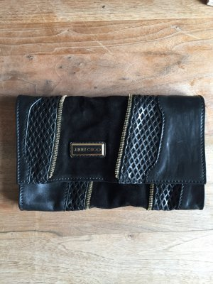 Jimmy Choo Clutch schwarz Leder