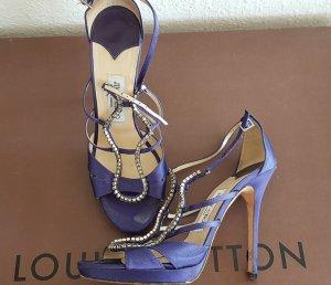 Jimmy Choo Diamante Luxus Designer high heel Sandaletten aus Seide