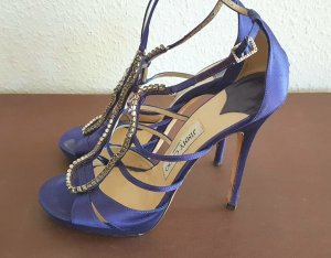 Jimmy Choo Diamante Satin high heel peep toe gladiator Sandaletten NP: 790€
