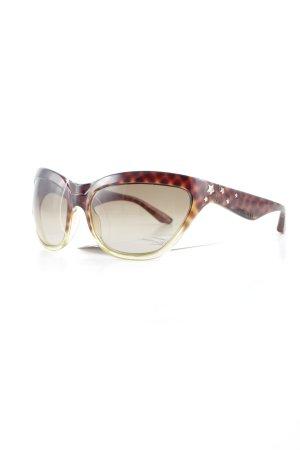Jimmy Choo eckige Sonnenbrille dunkelbraun-sandbraun Animalmuster Animal-Look