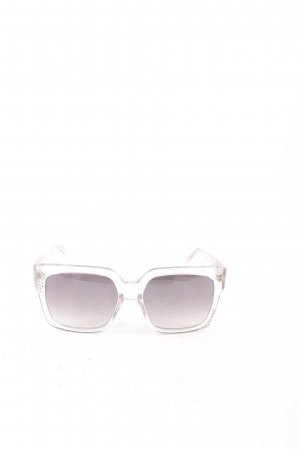 Jimmy Choo eckige Sonnenbrille hellgrau Glitzer-Optik
