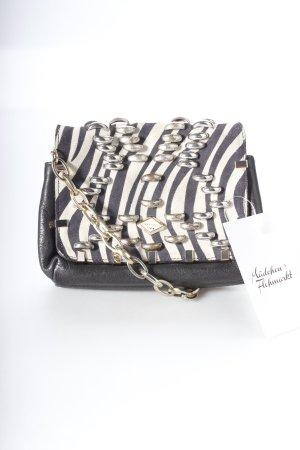 Jimmy Choo for H&M Handtasche schwarz-hellbeige Animalmuster extravaganter Stil