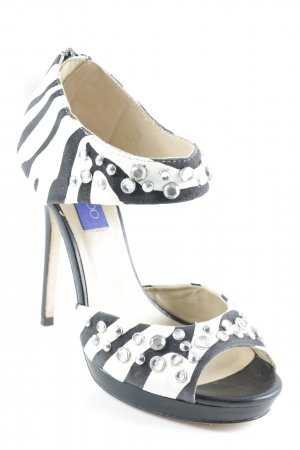 Jimmy Choo for H&M High Heels schwarz-creme Party-Look