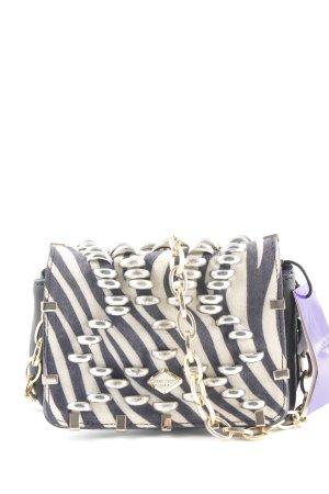 Jimmy Choo for H&M Mini sac noir-crème motif animal Look de motard