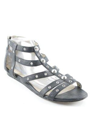 Jimmy Choo for H&M Riemchen-Sandaletten schwarz schlichter Stil