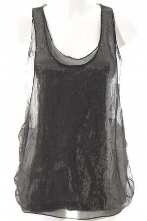 Jimmy Choo for H&M Tanktop schwarz-silberfarben Party-Look