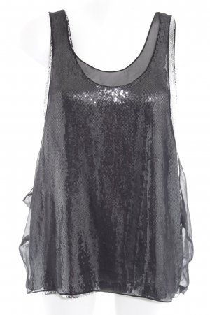 Jimmy Choo for H&M Strappy Top black-silver-colored glittery