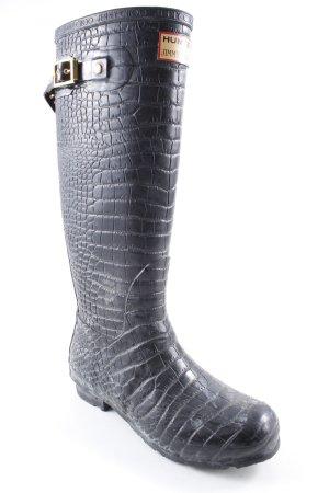 Jimmy Choo Botas de agua gris-gris antracita estampado de animales