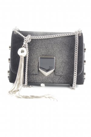 "Jimmy Choo Handtasche ""Locket Mini Shoulder Bag Suede/Sprayed Glitter Black/Champagne"""