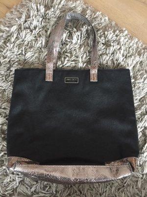 Jimmy Choo Handtasche schwarz/silber