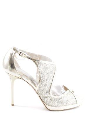 Jimmy Choo High Heel Sandaletten silberfarben Elegant