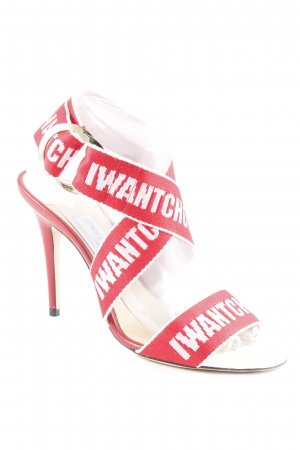 Jimmy Choo High Heel Sandal red-white elegant