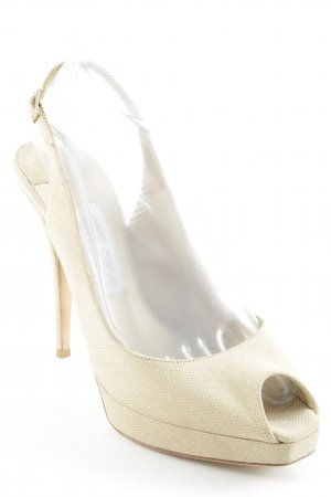 Jimmy Choo High Heels creme Glitzer-Optik