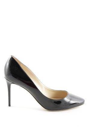 Jimmy Choo High Heels schwarz-wollweiß Elegant