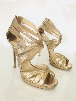 Jimmy Choo High Heels Gold Gr. 37 Sandaletten