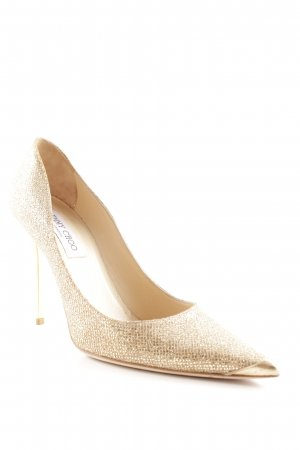 Jimmy Choo High Heels goldfarben extravaganter Stil