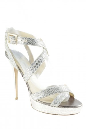 Jimmy Choo High Heels goldfarben-sandbraun Elegant