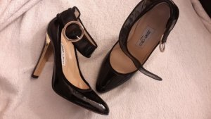 Jimmy Choo High Heels Pumps Gr. 38 schwarz Lackleder