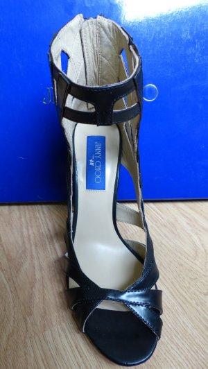 Jimmy Choo High Heels Sandalen schwarz Leder NEU 39