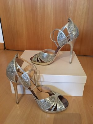 Jimmy Choo Platform Sandals sand brown-silver-colored