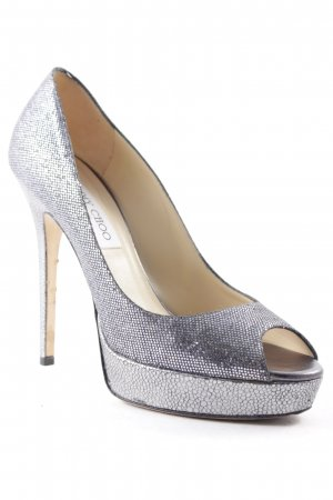 Jimmy Choo High Heels silberfarben Elegant