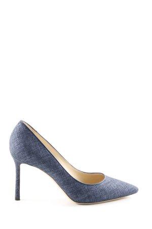 Jimmy Choo High Heels stahlblau Business-Look
