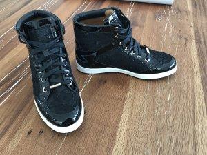 Jimmy Choo High Top Sneaker mit echter Spitze, Größe 38, NP 559