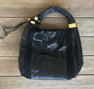 Jimmy Choo Bolsa Hobo negro-color oro