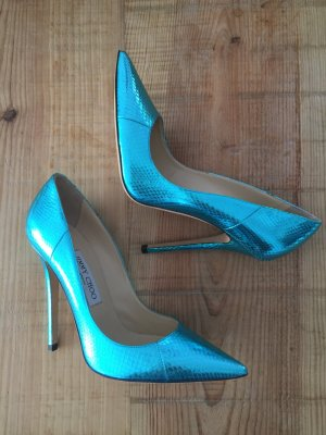 Jimmy Choo Leder Stiletto Pumps metallic Look 38 neuw