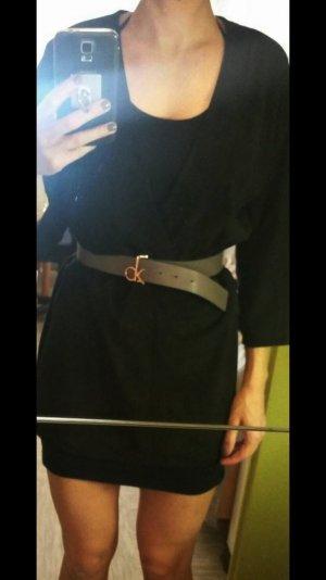 Jimmy Choo Lederkleid Leder Minikleid schwarz pink 36 S