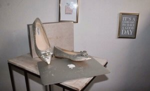 Jimmy Choo Ballerinas with Toecap silver-colored-light grey