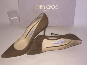 *** JIMMY CHOO LONDON *** Pumps Gr. 40 Khaki Brown